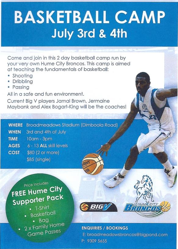 Basketball camp July 2013