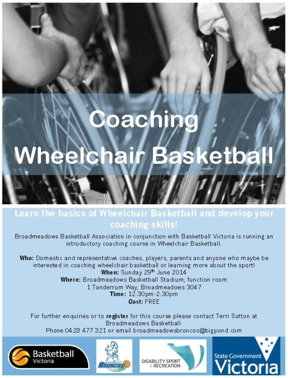 Coaching wheelchair basketball