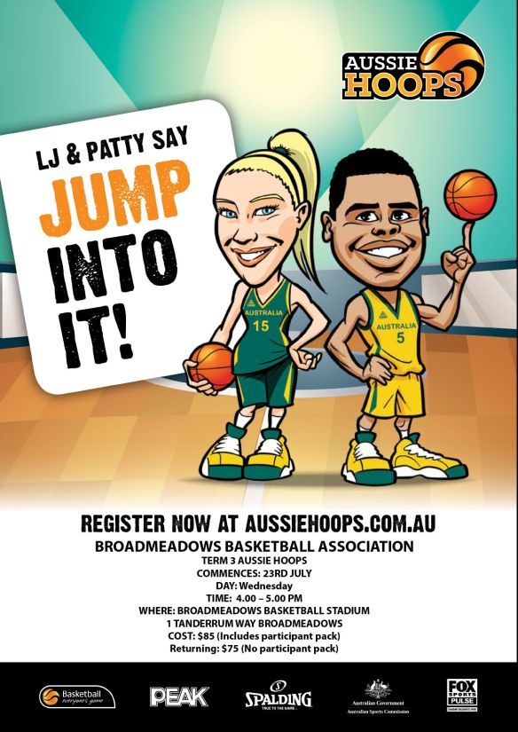 Aussie hoops flyer - July 2014