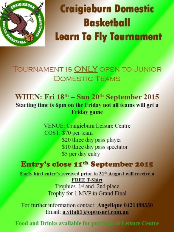 Craigieburn domestic tournament 2015