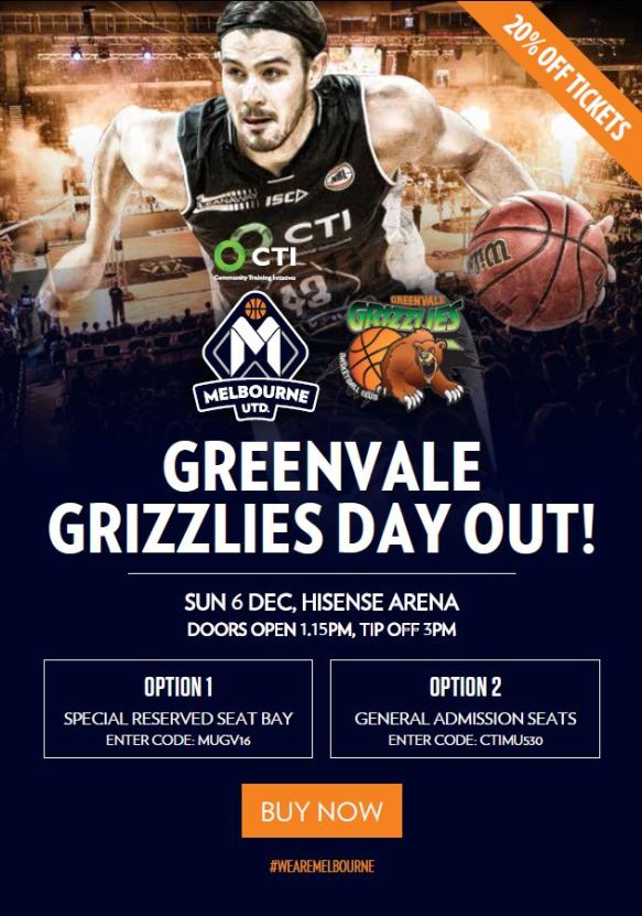 Greenvale Melb United offer